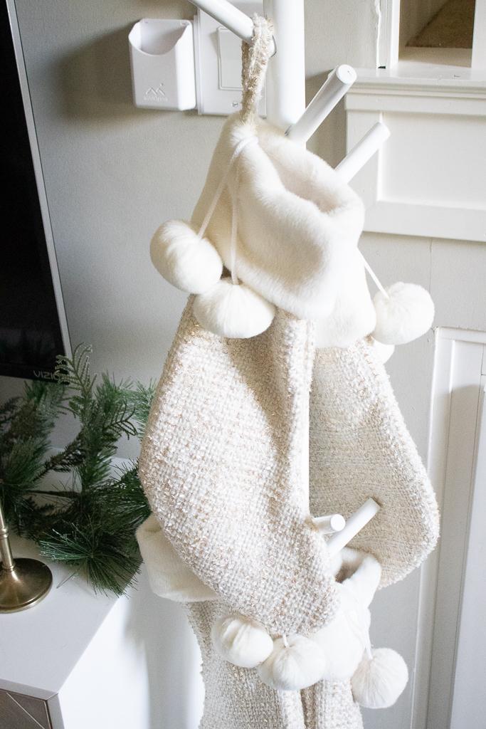 christmas stocking hanging ideas no fireplace