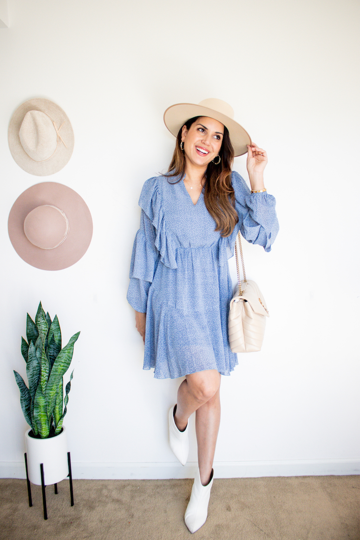 cute thanksgiving outfit ideas for women ruffle dress