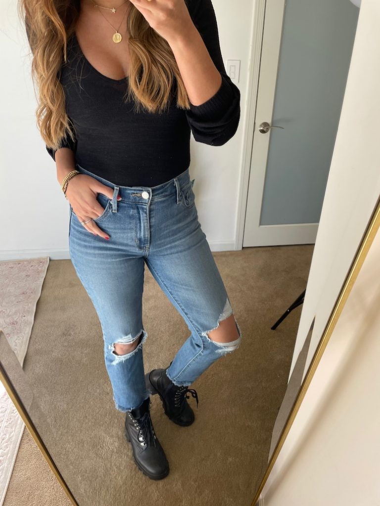combat boots with jeans outfit