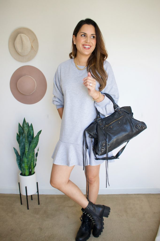 how to wear combat boots with dress outfit ideas