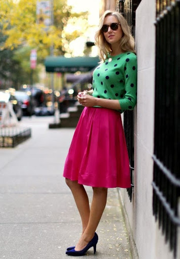 cute outfits with pink skirts