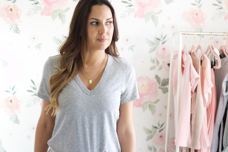 grey v-neck rag & bone t-shirt for women
