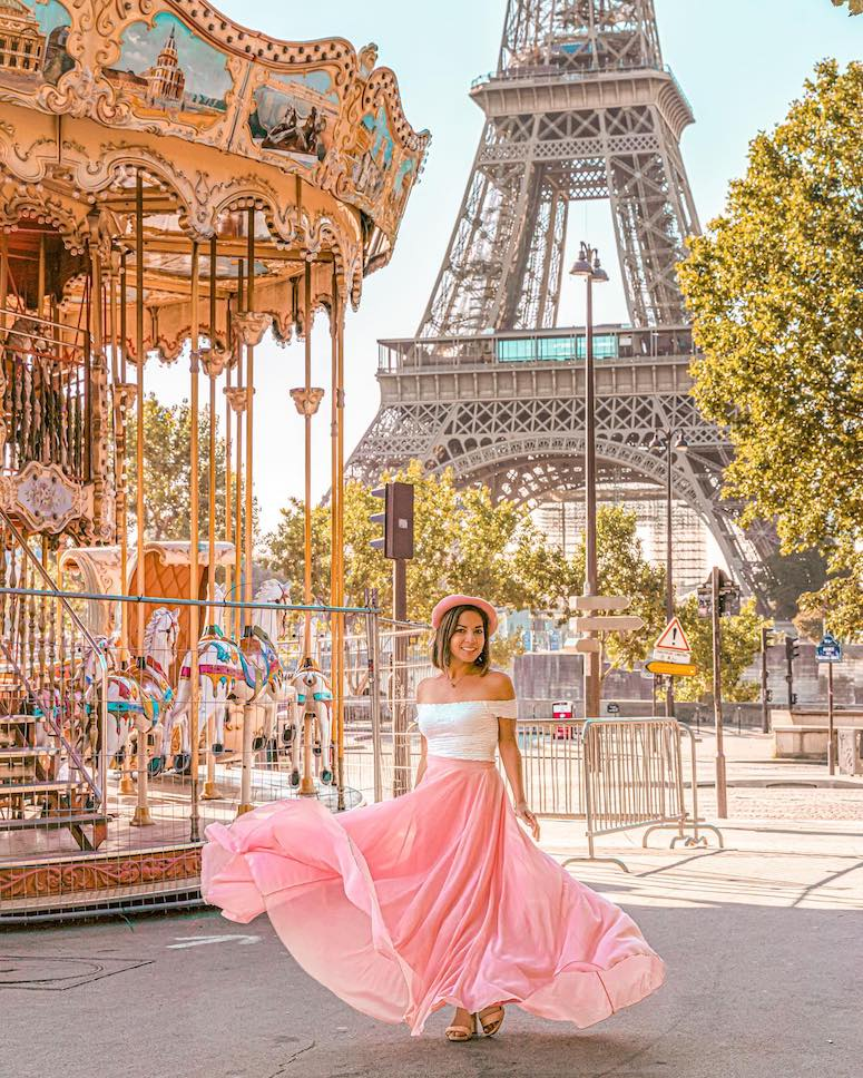 pink maxi skirt outfit