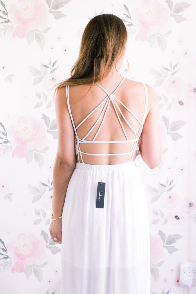 free people strappy bralette lulus white maxi dress beach vacation outfit