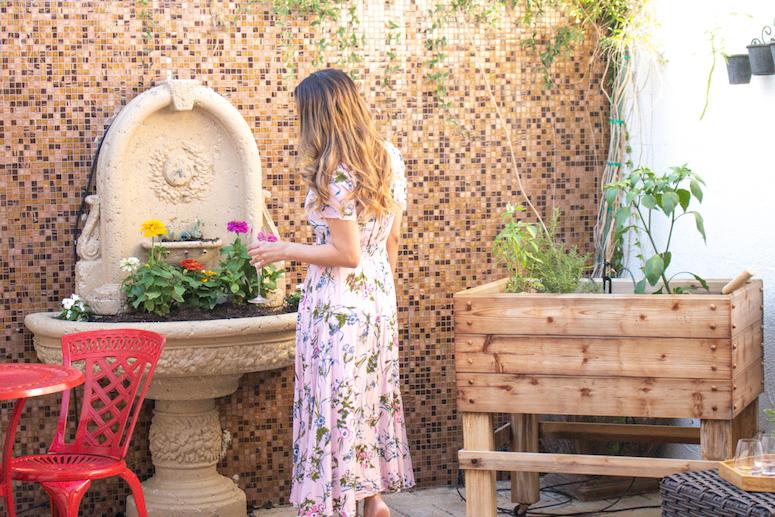 covered patio gardening
