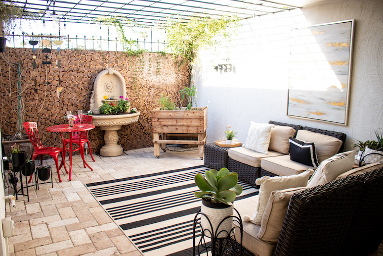 before after patio reveal ideas