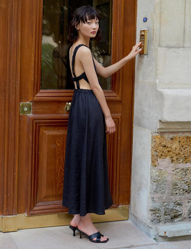 pixie market linen dress