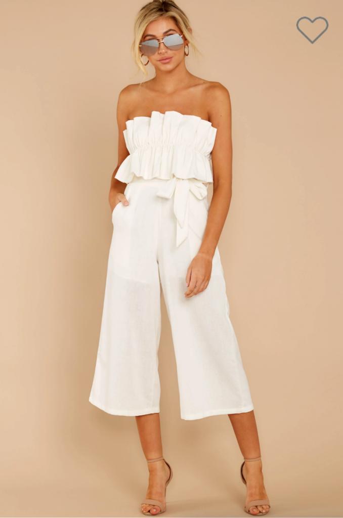 reddress white jumpsuit