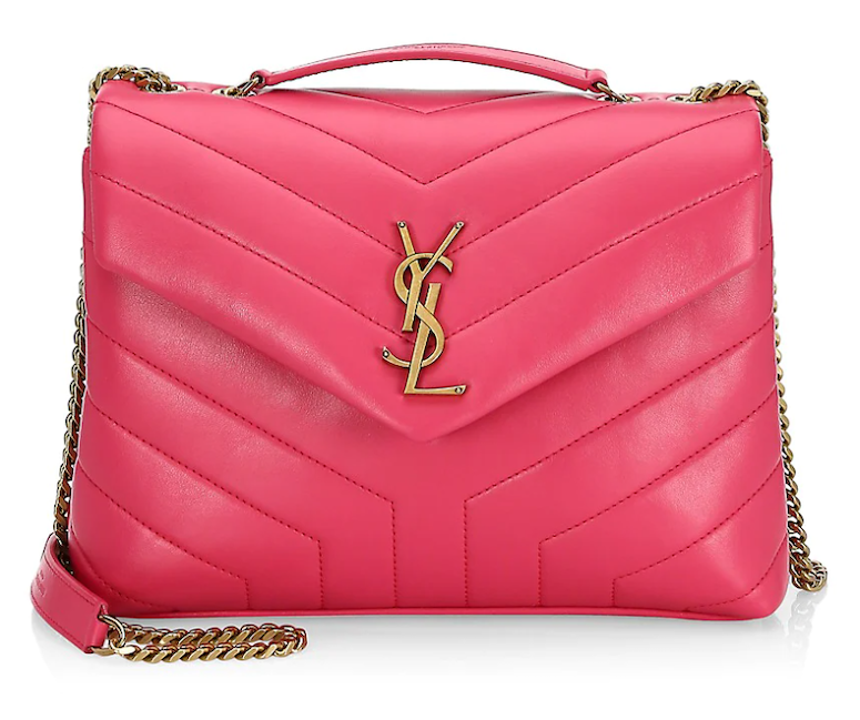 hot pink saint laurent loulou bag