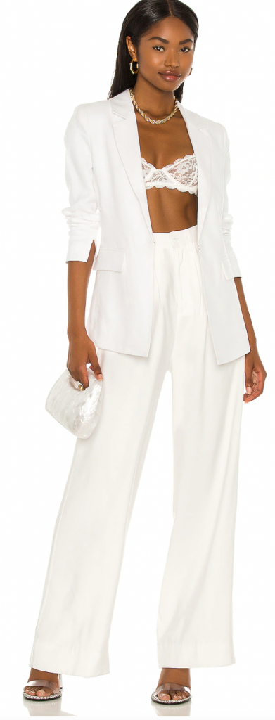 white party outfit idea blazer with pants white suit