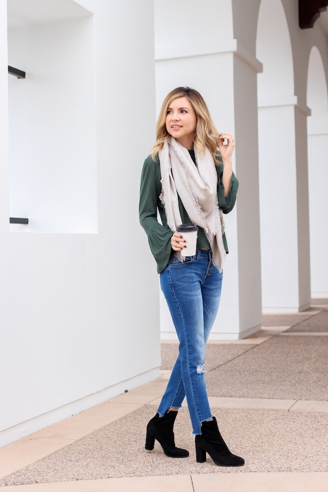 sock boots with jeans outfit