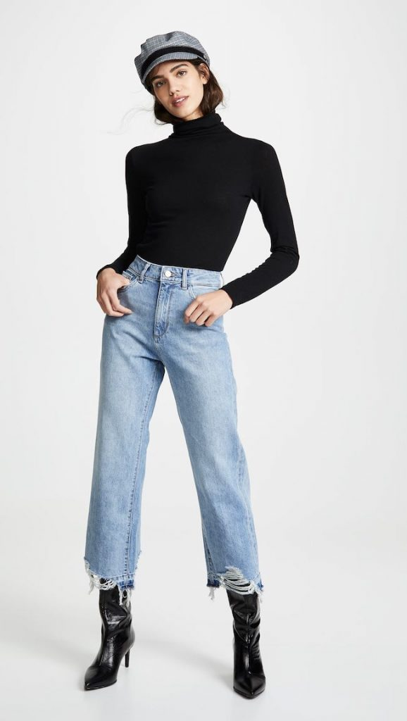booties with jeans outfit cropped jean
