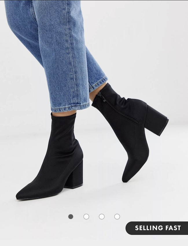 sock booties with jeans outfit