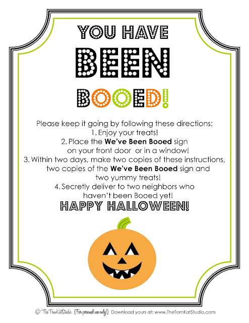 free printable you've been booed signs