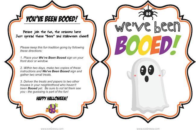 cute halloween booed printables