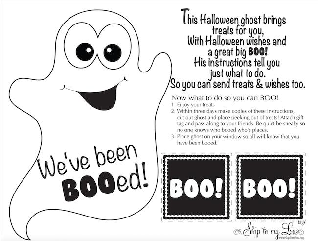 halloween ghost booed printable