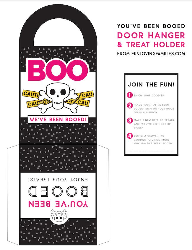Halloween booed door hangers free