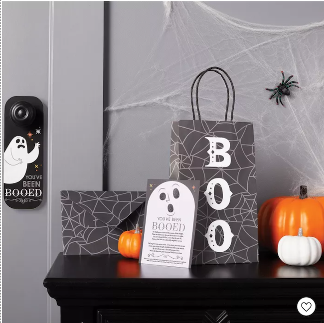 Halloween booed gift bag kit