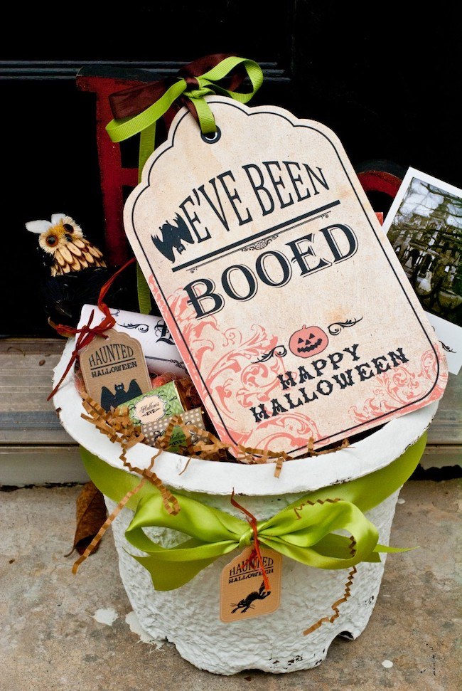 we've been booed printable tag