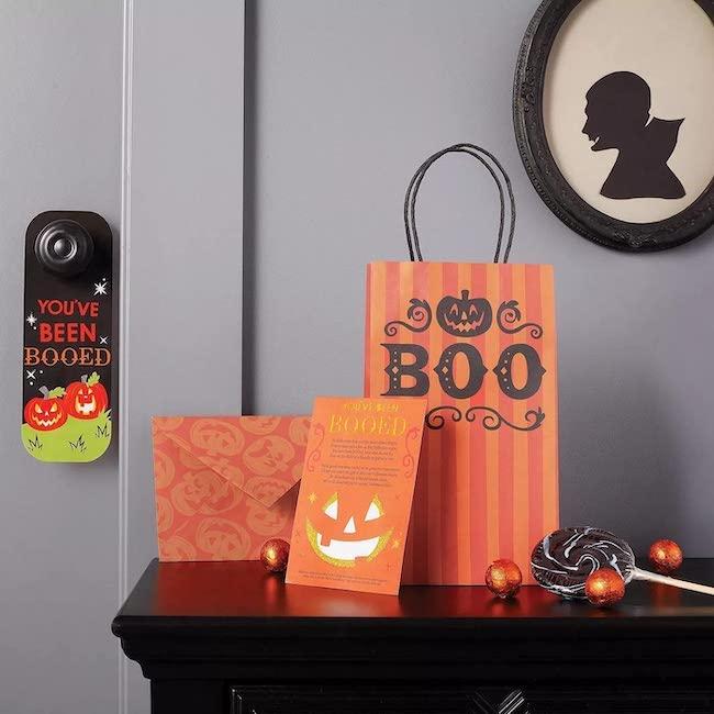 Halloween boo basket kit