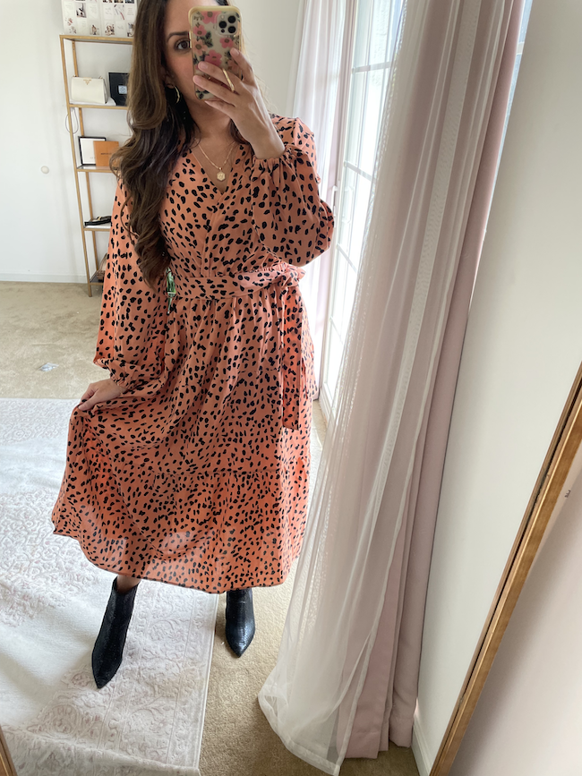 leopard print amazon maxi dress